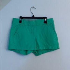 J crew teal women's shorts!!!!!!